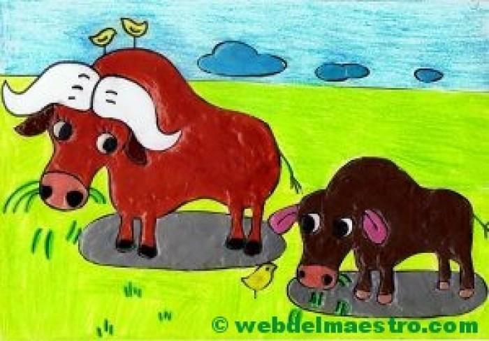 búfalos con barniz