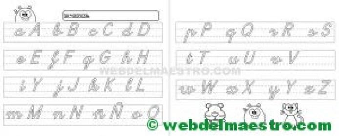 Abecedario infantil en letra cursiva-1