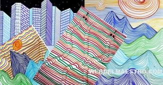 Dibujos con líneas - Dibujos en 3d para niños
