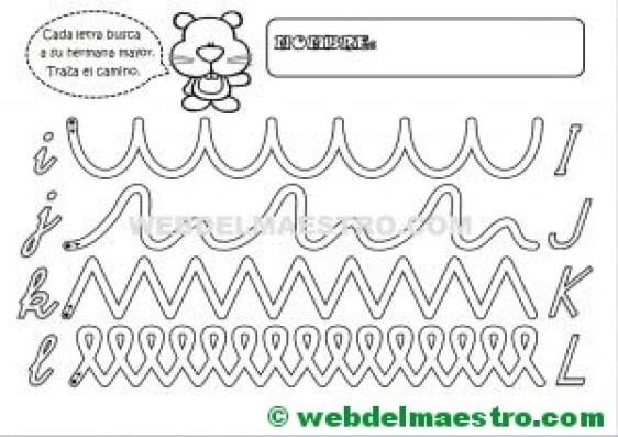 Grafomotricidad-Abecedario infantil-LETRAS I-J-K