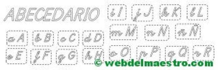 Letras del abecedario para recortar