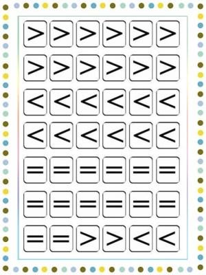Comparar cantidades-Signos mayor que, menor que, igual que