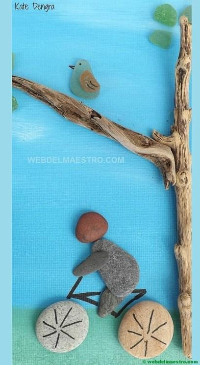Cuadros hechos con piedras-paisaje