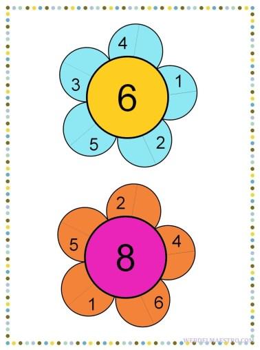 Descomponer los números 6 y 8-