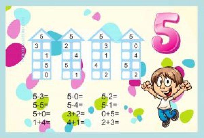 Descomponer números-Actividades color-5