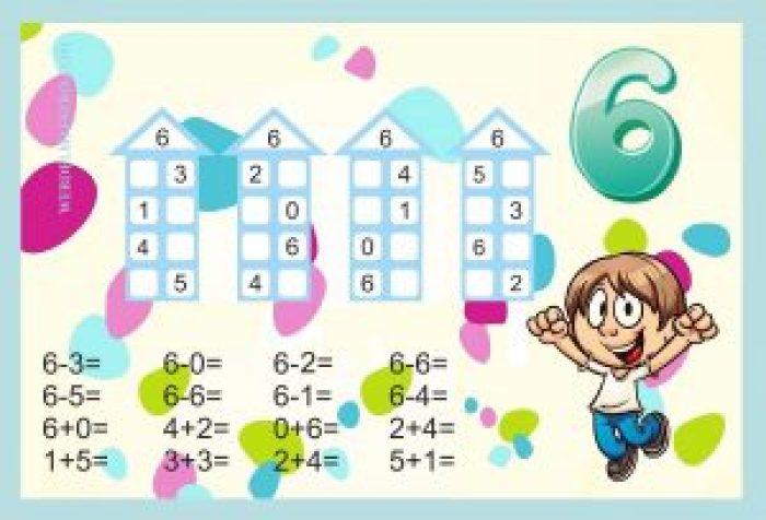 Descomponer números-Actividades color-6