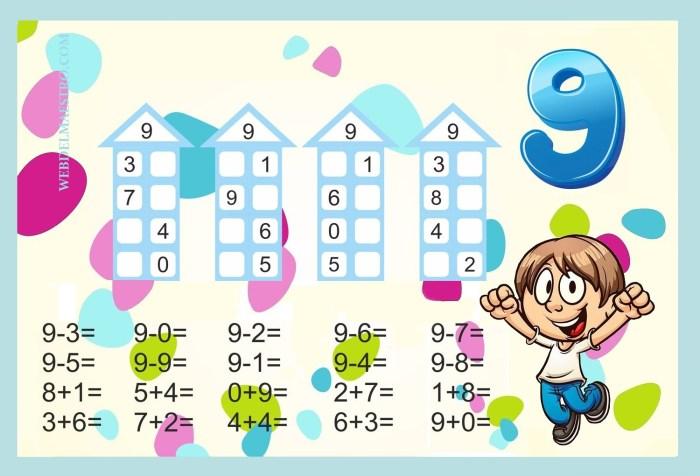 Descomponer números-Actividades color-9
