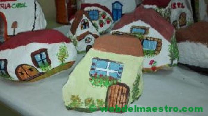 Imágenes de piedras pintadas-casas