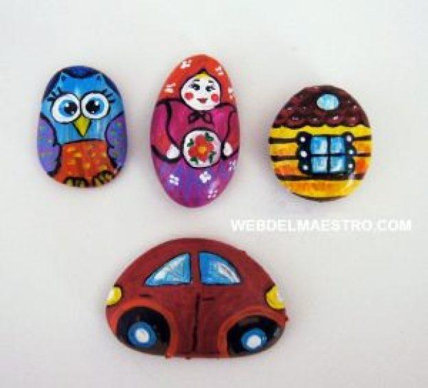 Piedras pintadas sin barnizar