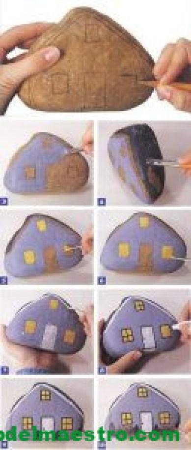 cómo pintar casas con piedras - pasos a seguir