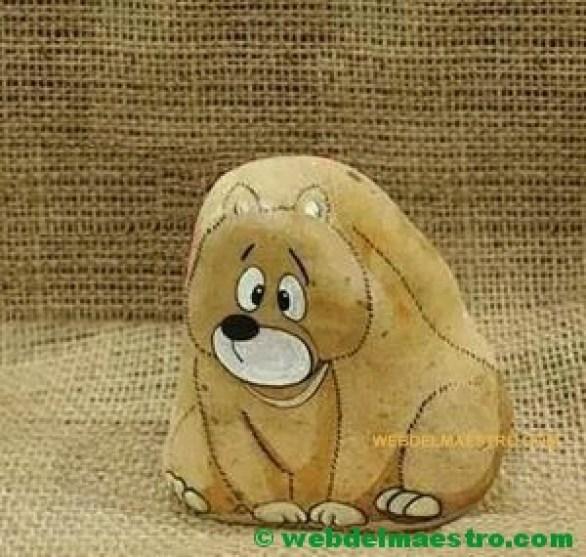 piedras pintadas de animales-oso