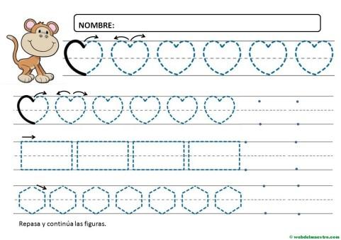 Ejercicios de grafomotricidad para 4 años-IV