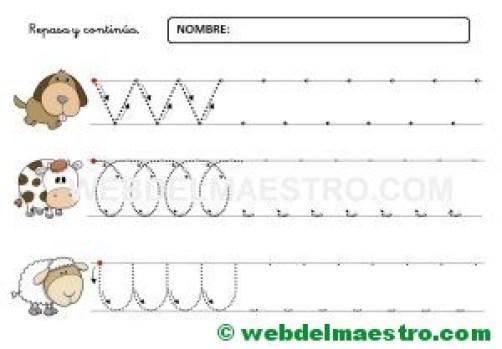 Ejercicios de grafomotricidad para 4 años-X