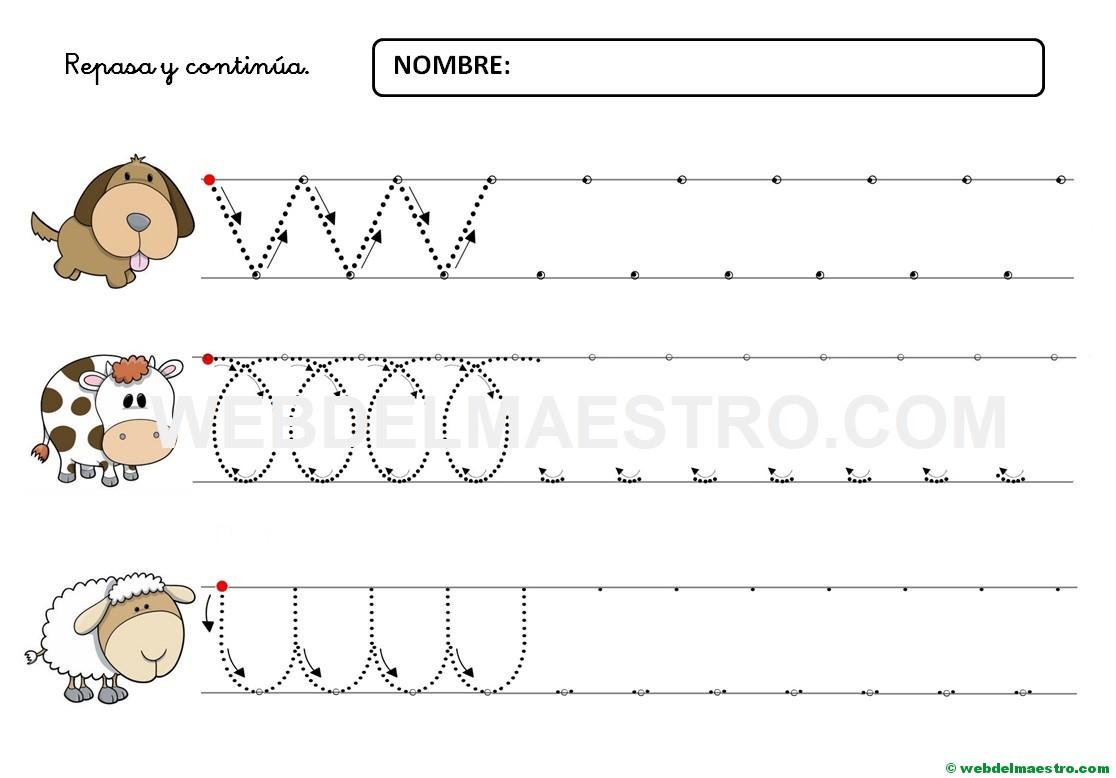 Dibujos Colorear Ninos 4 Anos: Ejercicios De Grafomotricidad Para 4 Años-X