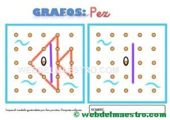 Grafos-Unir puntos-Pez