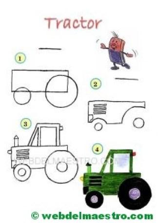 Aprender a dibujar-tractor
