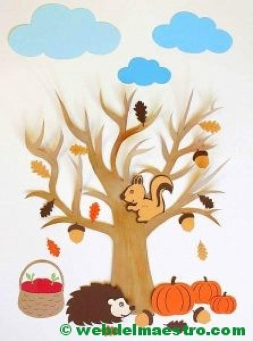 Arbol y frutos de otoño-