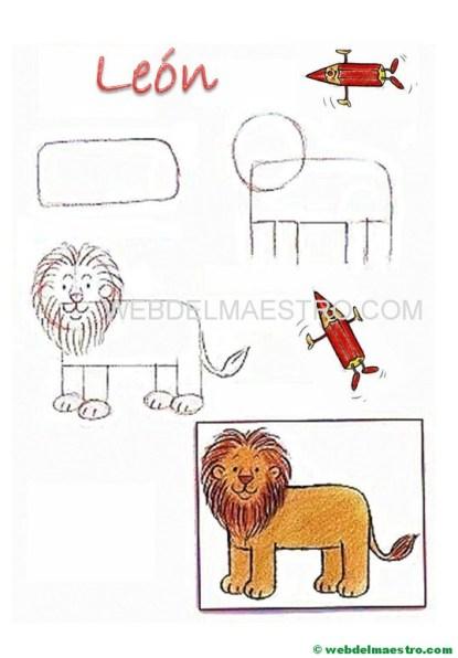 Cómo dibujar animales-león