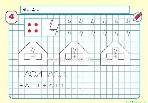 Grafomotricidad para imprimir con números-