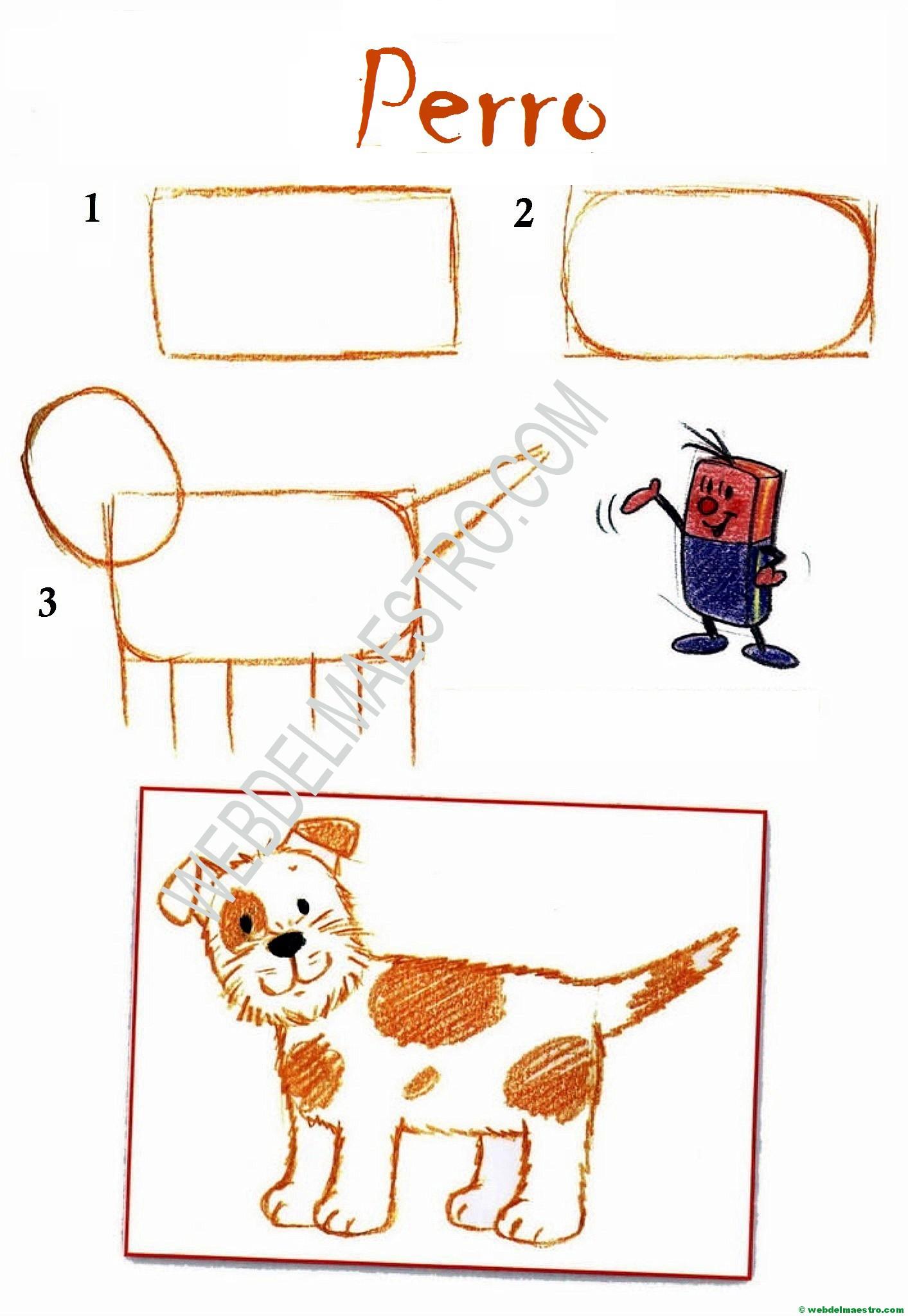 Dibujos Fáciles Perro Web Del Maestro