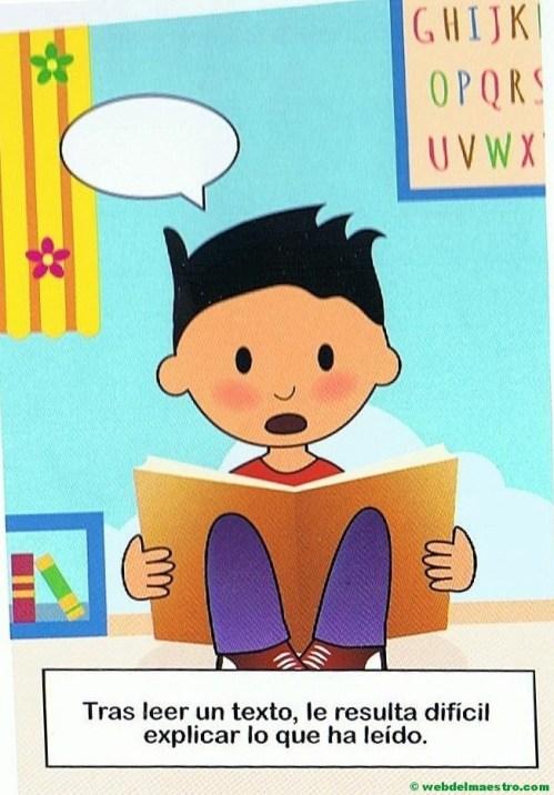 14. Le resulta difícil explicar lo que lee