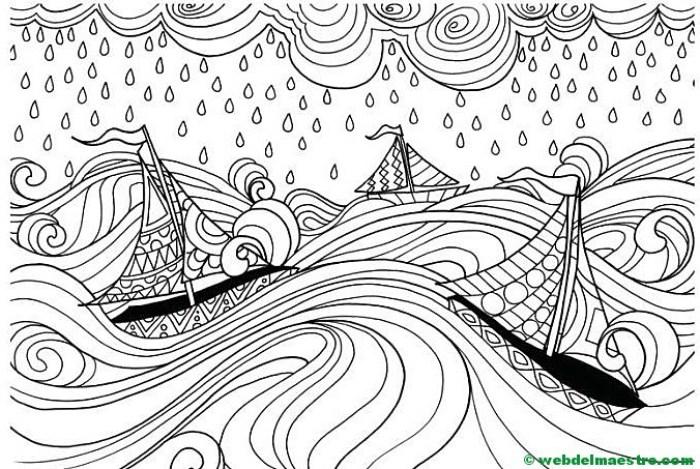 Dibujos para imprimir antiestrés- barcos