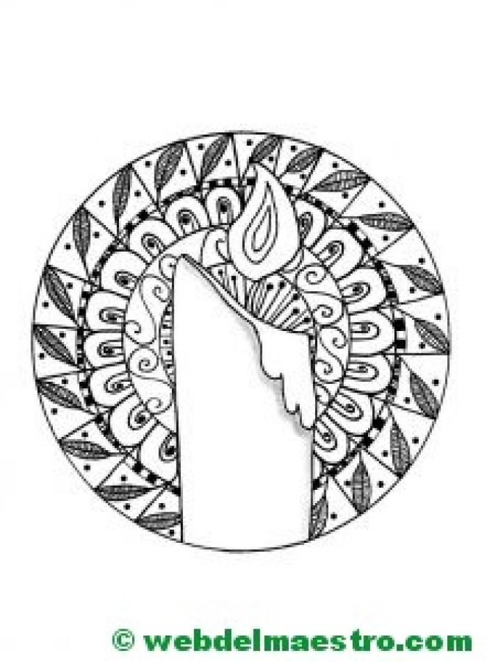 Dibujos para imprimir antiestrés-velas
