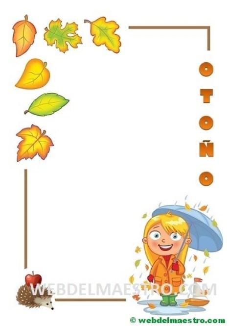 El otoño-pegar hojas-