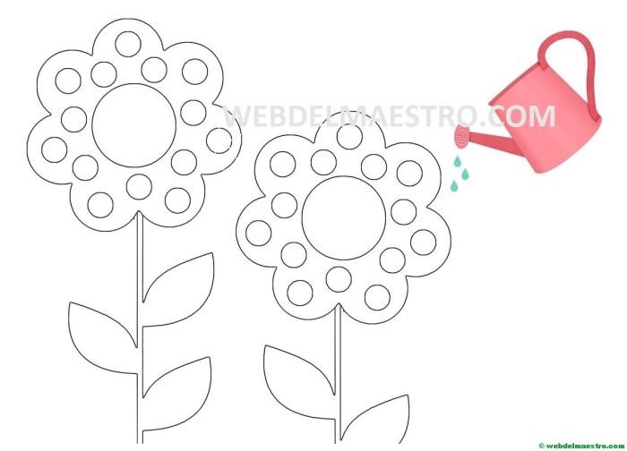 Flores-pegar gomets