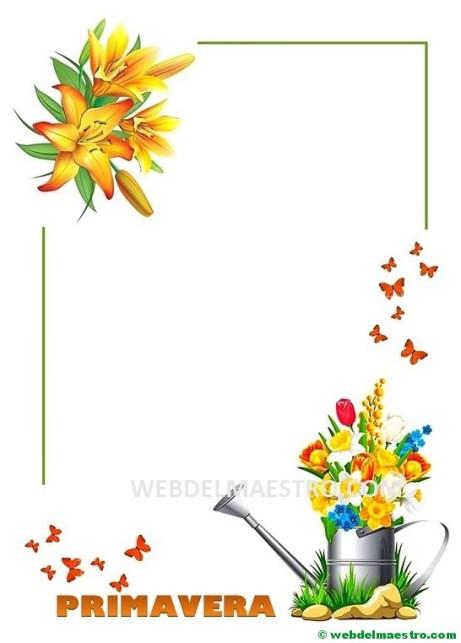 La primavera-pegar flores y pétalos-