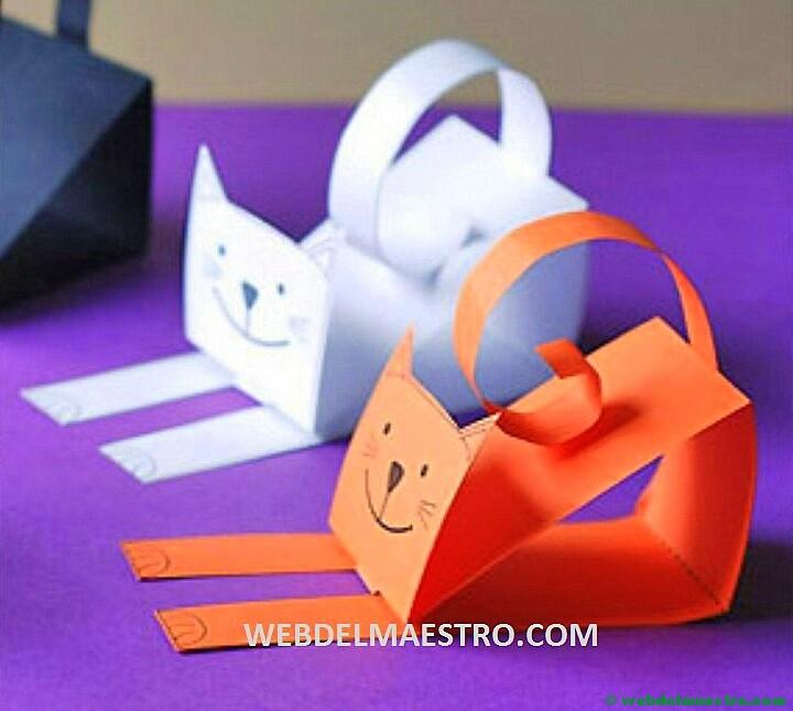 Manualidades f ciles gato de cartulina web del maestro for Actividades con cartulina para ninos