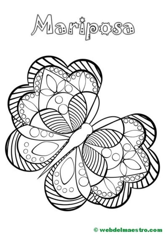 mariposa antiestres con el nombre