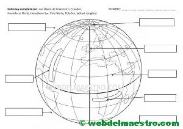 Lineas de la Tierra-Meridianos y paralelos-Actividades