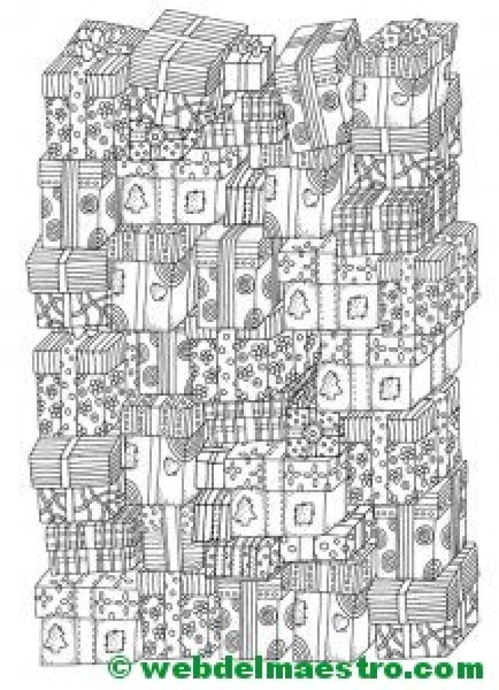 Dibujos navideños para colorear - Web del maestro