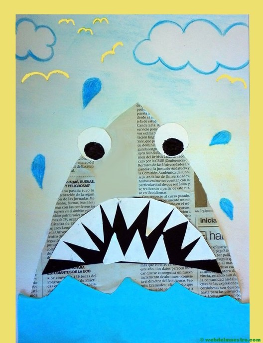 Terminación de trabajos-tiburón-