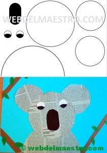 manualidades con papel de periodico-koala