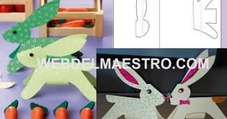 Manualidades faciles-conejo de cartulina