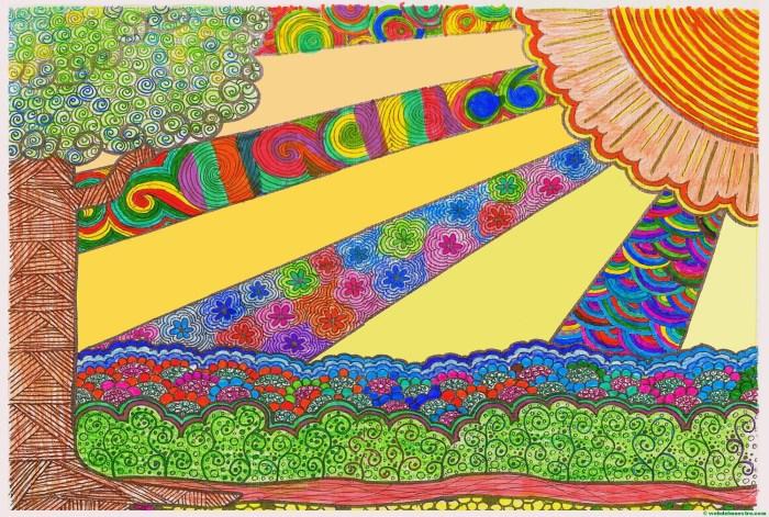 Dibujo nº 12-Rayos de sol-