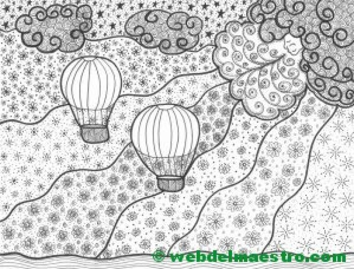 Dibujo nº 8-El viento y los globos