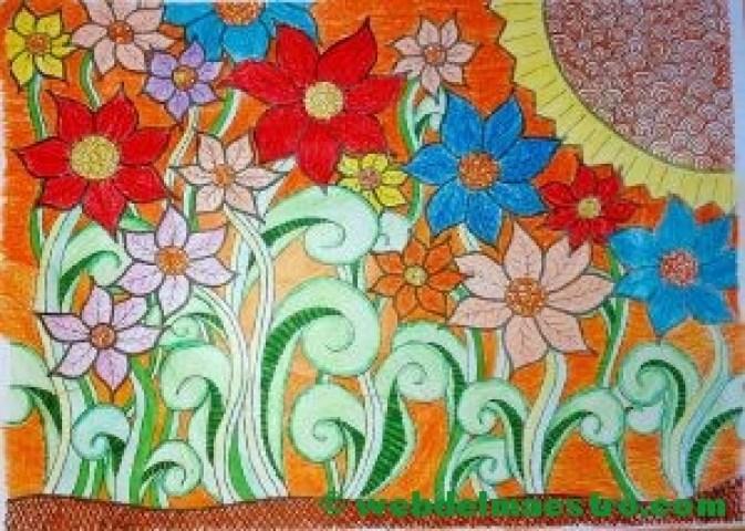 El sol y las flores
