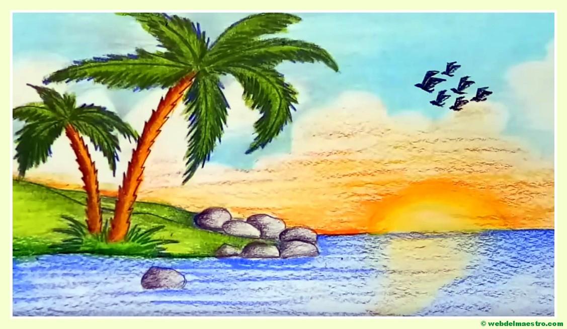 Dibujos Para Colorear Paisajes Naturales: Paisajes Fáciles De Dibujar