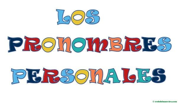 Los pronombres personales- Título-color