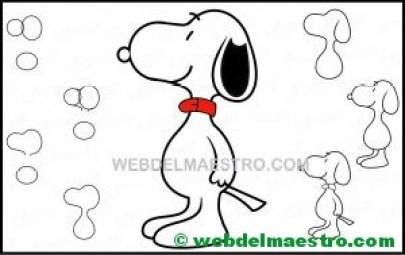 aprender a dibujar a Snoopy-