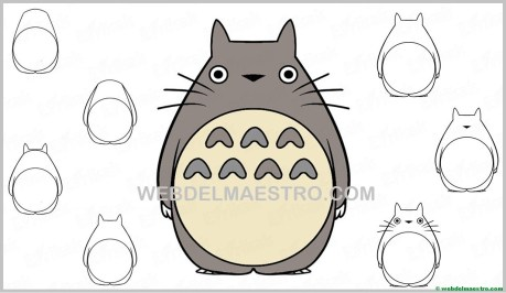aprender a dibujar a Totoro-