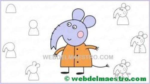aprender a dibujar elefante de Pepa Pig-