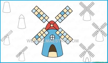 aprender a dibujar un molino de viento-