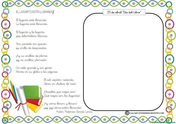 Actividades para el Día del libro-El lagarto está llorando