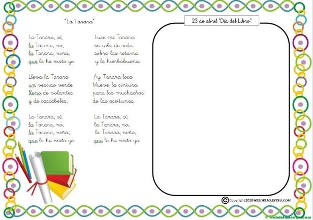 Actividades para el Día del libro-La Tarara