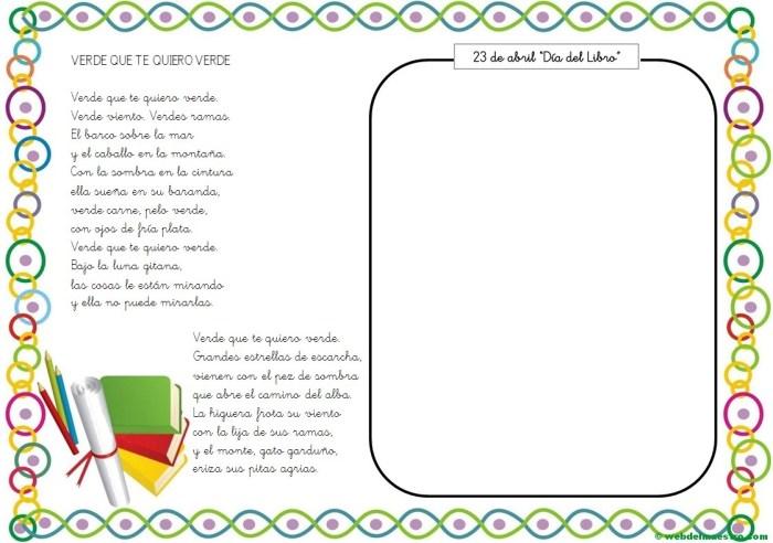 Actividades para el Día del libro-Verde que te quiero verde