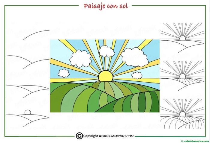 Como dibujar un paisaje para niños-1